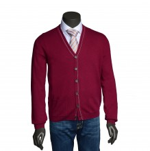 Cashmere Cardigan lampone