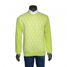 Cashmere R-Neck Pullover lime