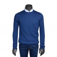 R-Neck Pullover royalblau