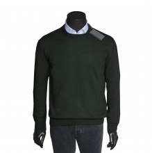 Misto Cashmere R-Neck Pullover autumn green